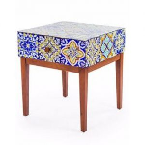'Talavera' Glass Tile Side Table