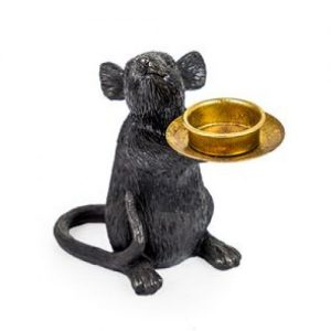 Black Mouse Tea Light Holder/Left