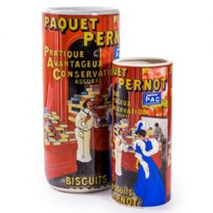 Ceramic 'Paquet Pernot' Umbrella/Vase Set.