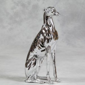 Silver Sitting Whippet