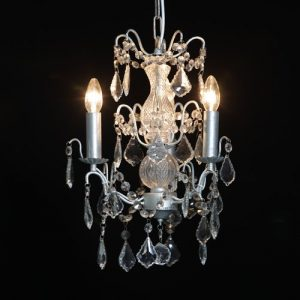 Small Silver 3 Branch Chandelier
