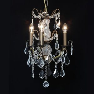 Small 3 Branch Bronze Chandelier