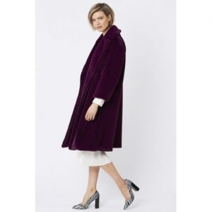 Faux Fur Coat/Purple