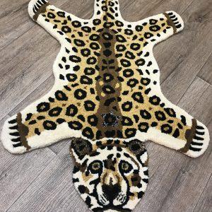 Wool Leopard Rug