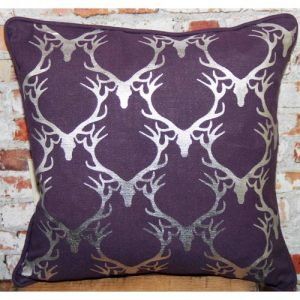 Cushion Stag  Purple/Silver