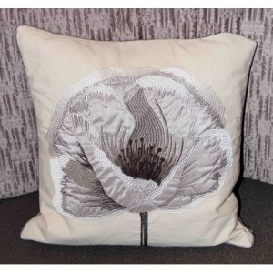 Cushion – Poppy /Taupe