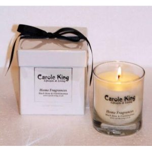 Black Rose And Frankincense Perfumed Candle