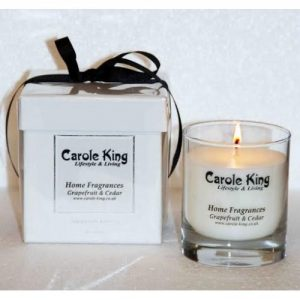 Grapefruit And Cedar Perfumed Candle