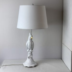 Parrot table lamp/White