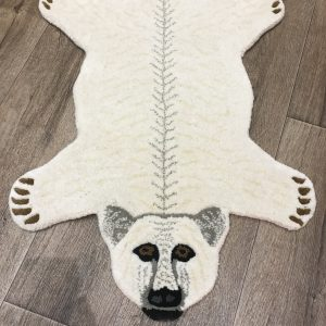 Polar Bear wool rug