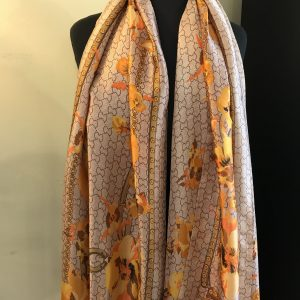 'Gucci' print wrap/scarf-orange