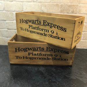 'Antiqued' Harry Potter Platform wooden box