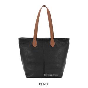 Leather tote bag/Black